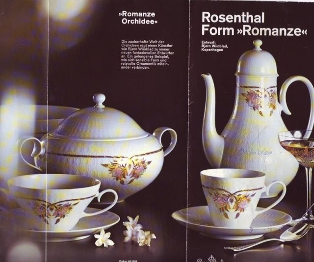 1 Kaffeegedeck ROSENTHAL Romanze Orchidee